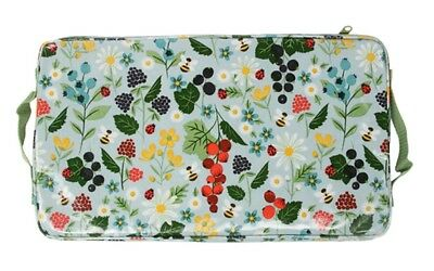 Gisela Graham Large Kitchen Garden PVC Kneeling Pad Mat, Zipped Cover & Handles