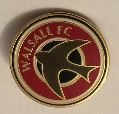 WALSALL Classic New In Bag Collectable FOOTBALL PIN BADGE