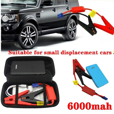 Portable 6000mAh Car Jump Starter Engine Battery Charger LED Power Bank Camping