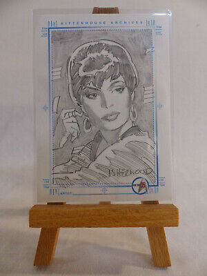 Star Trek 35th Anniversary TOS SketchaFEX Card Uhura Geoff Isherwood