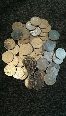 50 Rare And Collectable Limited Edition 50P Coins
