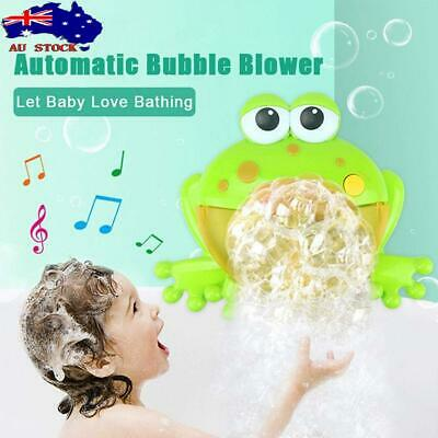 Crab Bubble Blower Blowing Maker Machine W/ Music Toys For Kids Party Effect AU!