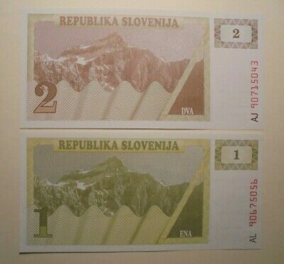 Unc Set Of Slovenia Banknotes.