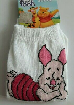 Disney Piglet Winnie the Pooh junior socks boy girl UK size 6-8.5 (Eur 24-26)