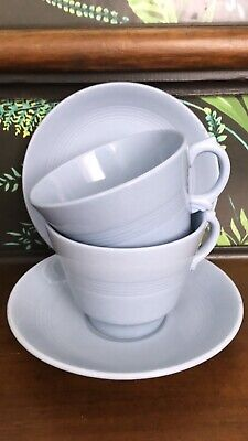 Vintage Woods Ware Iris breakfast cups And Saucers X2