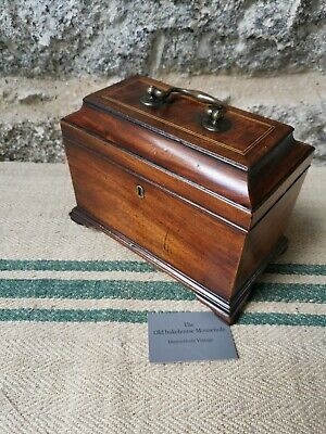 A Rare Georgian  Mahogany Tea Caddy