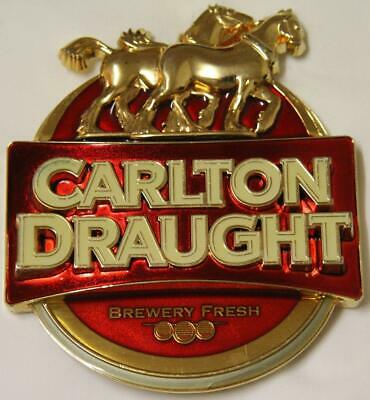 Collectible Carlton Draught Metal Tap Top Badge  - Excellent