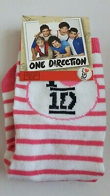 One Direction 1D junior socks girls UK size 9-12 (Eur 27-30) novelty gift