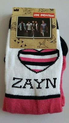 One Direction 1D Zayn socks girls UK size 12.5-3.5 (Eur 31-34) novelty gift