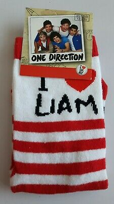 One Direction 1D Liam socks girls UK size 12.5-3.5 (Eur 31-34) novelty gift