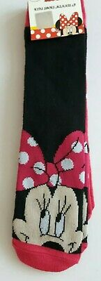 Disney Minnie Mouse 2 pack socks girls UK size 9-11.5 (Eur 27-30) character gift