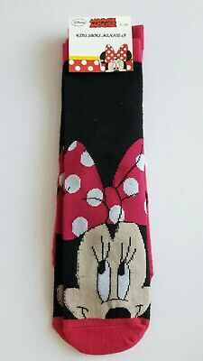 Disney Minnie Mouse 2 pack socks girls UK size 12.5-2.5 character gift