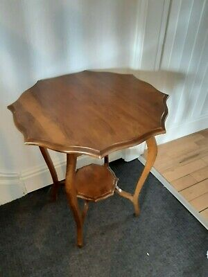 Vintage golden oak octagonal occassional table lovely item in great condition