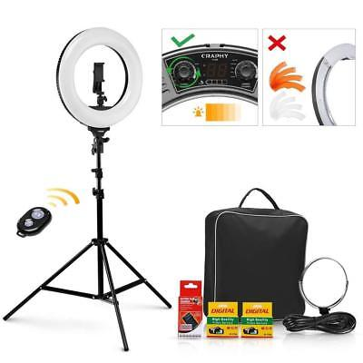 Ring Light 14'' 40W, 3200-5600K Bi-Color Dimmable Rechargeable Video Ring Light