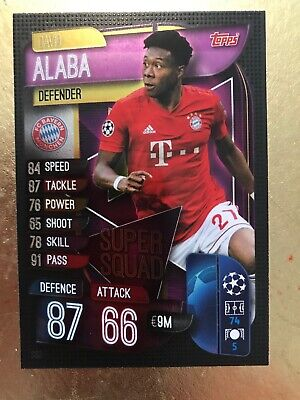 Match Attax 19//20 Championnat 2019//2020 Base Carte Carte Nº 268 DAVID ALABA