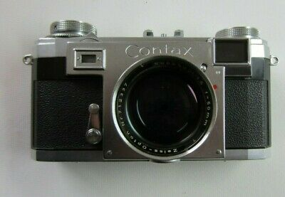 contax IIa (color dial) feet-scala & Sonnar 1.5/50