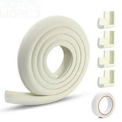 VLCOO Edge Protectors , 2 M Foam Safety Strip and 4 Corner Cushion White
