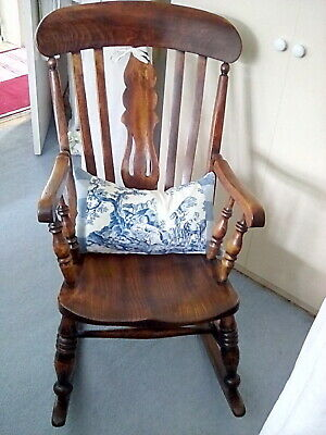 Antique Late Victorian / Edwardian Rocking Chair