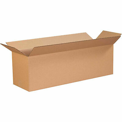 "16"" x 8"" x 8"" Long Cardboard Corrugated Boxes, 65 lbs Capacity, 200#/ECT-32, Lot"