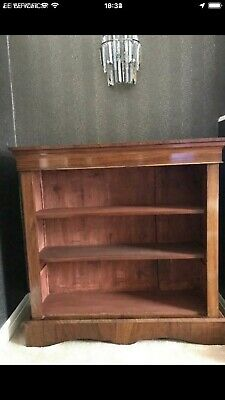 Antique Walnut bookcase with open shelves