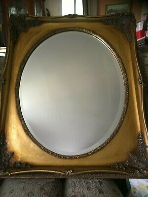 LARGE Antique GOLD Shabby Chic Ornate Decorative Wall Mirror Rococco Vintage