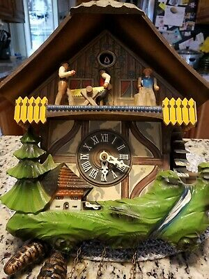 Vintage Wood Chopper - Water Wheel Cuckoo Clock Not Working