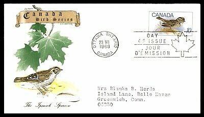 MayfairStamps Canada FDC 1969 The Ipswich Sparrow Bird Series Kingswood Fauna Fi