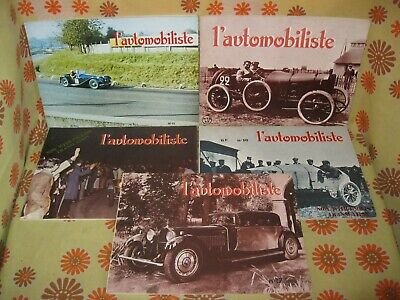Vintage 60 Lot 5 Ancienne REVUE L'AUTOMOBILISTE N°12 13 15 16 17 Automobile Auto