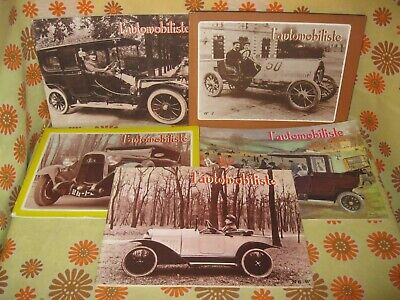 Vintage 60' Lot 5 Ancienne REVUE L'AUTOMOBILISTE N°1 2 3 5 6 Automobile Magazine