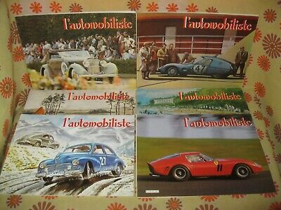 Vintage 80 Lot 6 Ancienne REVUE L'AUTOMOBILISTE N°56 57 58 59 60 61 Automobile