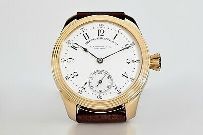 Antique Patek, Philippe & Co Men's Swiss Wrist Watch Gold Plated Case