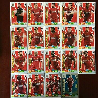 Panini Adrenalyn Xl Premier League 2019/20 Liverpool Base/Hero Buy 3 Get 7 Free