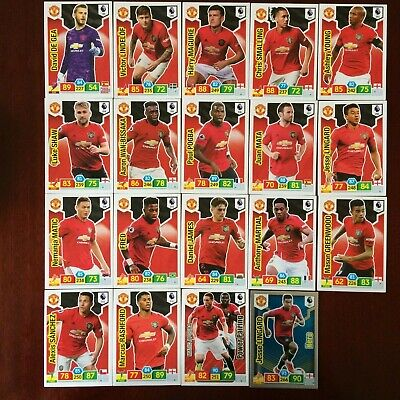 Panini Adrenalyn Xl Premier League 2019/20  Man Utd Base/Hero Buy 3 Get 7 Free