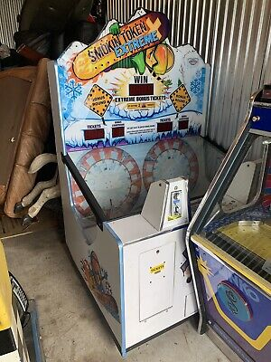 Smokin Token Extreme Snow Board Coin Pusher Ticket Operated Machine 2 Player
