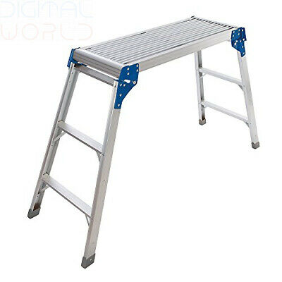 Silverline Tools 537366 150Kg Step-Up Platform - Silver with Blue Black