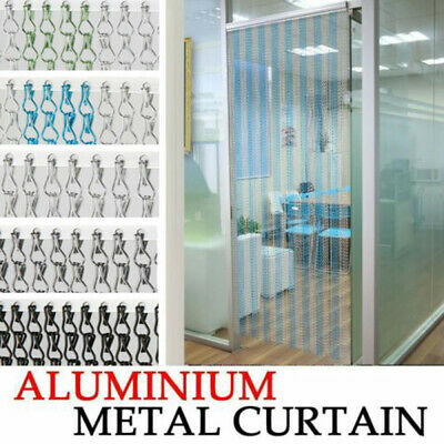 214 x 90CM Metal Chain Insect Fly Door Curtain Screen Aluminium Pest Control UK