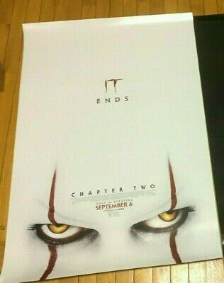 IT CHAPTER 2 2019 EYES Original Movie Poster DS Chastain Stephen King 27x40