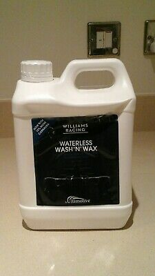 Williams racing waterless wash and wax 2.5L re-fill bottle