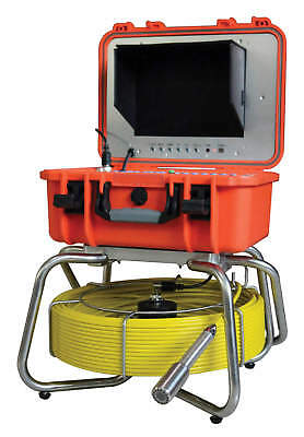 """Sewer Drain Self Leveling 1"""" Camera 10"""" LCD 512 HZ Sonde Transmitter 200Ft Cable"""