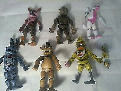 """Funko Five Nights At Freddy's Lot Of 6 Articulated 5"""""""
