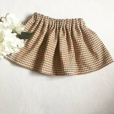 Handmade Skirt  Baby Girls Clothes New UK Brown Houndstooth Autumn Outfit  Lot