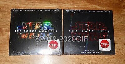 New Target Exclusive Star Wars The Force Awakens & Last Jedi Soundtrack CD Lot 2
