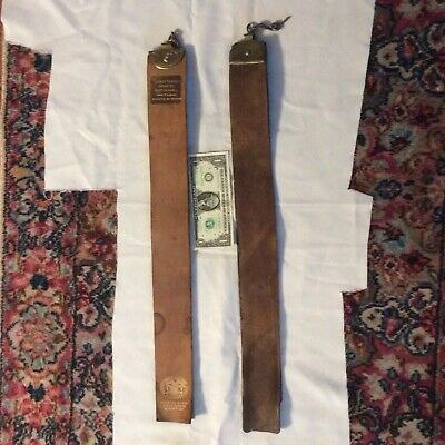 2 Antique Straight Razor Strops- In Used But Fair Condition-USA Made- Leather