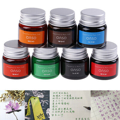 20ml Authentic Pure Colorful Ink Fountain Pen Writing Ink Refill Glass Bottle TS