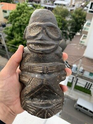 Taino Pre Columbian Gray Stone Cemi Idol Antique Unique Authentic Humanoid