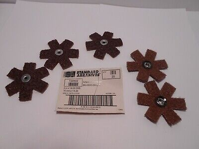 STANDARD ABRASIVES 724602 SURFACE CONDITIONING STARS 3 in  1/4-20 CRS