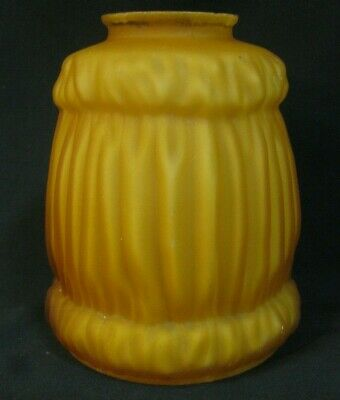 "Vintage ORANGE GLASS LAMP LIGHT SHADE fire red yellow MILK GLASS? 5 1/4"" tall"