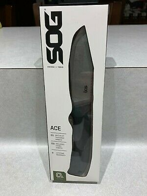 Sog Ace Fixed Blade  Knife New In Box