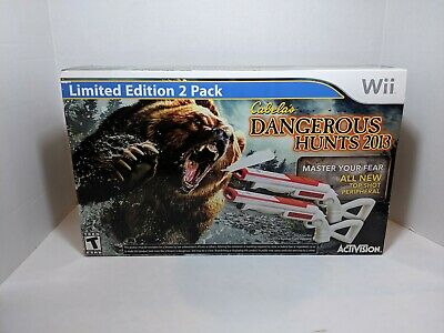Nintendo Wii CABELA'S DANGEROUS HUNTS 2013 Limited Edition 2 SEALED Free shippin