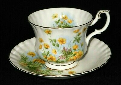 Royal Albert Sunny side series SUSAN fine bone china tea cup and saucer set.